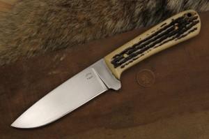 Jigged Bone, Bone Handle, Stag Handle, Backwoodsman, Knife, Lucas Forge, Hunter Knife, Custom Hunting Knife