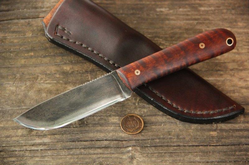 Frontier Skinner, Skinner, Skinning Knife, Belt Knife, Hunting Knife, Lucas Forge, Custom Hunting Knife, Custom Belt Knife