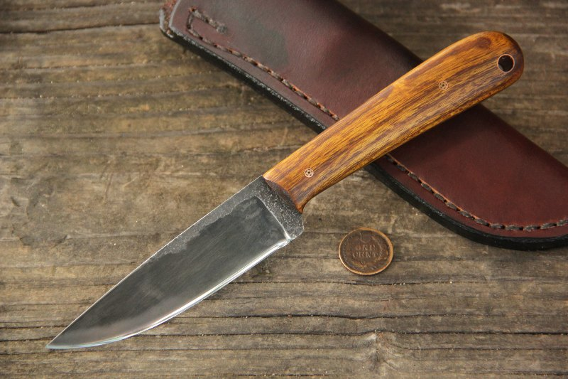 Custom Knives, Hunting Knives, Trapper, Trapper Knife, Trapping Knife, Skinning Knife, Lucas Forge, Frontier Knives, Belt Knives