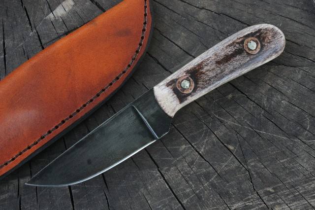 Trade Knife, Rendezvous, Mountain Man, Lucas Forge, Custom Hunting Knife, Bone Handle, Indian Knife