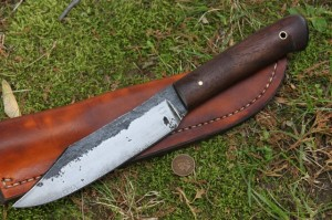 Buffalo Bowie, Bowie Knife, Reenactor Knife, Lucas Forge, Hand Forged Knife, Custom Hunting Knife