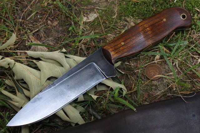 Bush Knife, Belt Knife, Custom Hunting Knife, Lucas Forge, Reenactor Knife