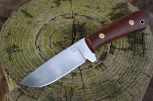 Drop Point Blade, Rosewood, Custom Knife