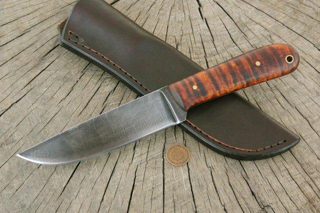 Hunting Knife, Custom Hunter, Lucas Forge Knives, Powder River Knife, Custom Knives