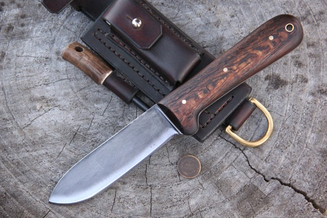 Kephart Knife, Reproduction Kephart Knife, Camp Knife, Lucas Knives, Lucas Forge Knives, Custom Hunting Knives