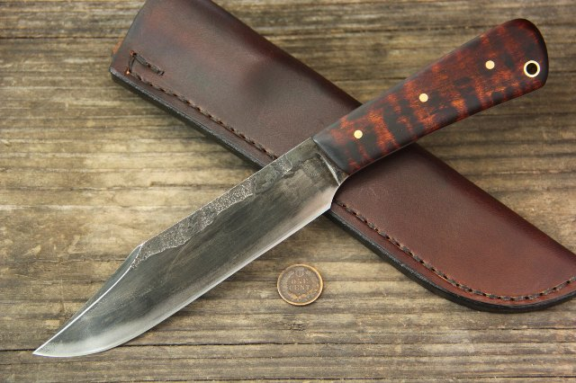 Hand Forged Knives, Forged Fire, Hammer Forged, Lucas Forge, Custom Hunting Knives, Custom Knives