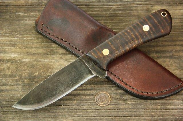 Hunting Knife, Hunter Knife, Custom Hunting Knives, Full Tang Knife, Custom Knife, Lucas Forge, Camp Knife, Elk River