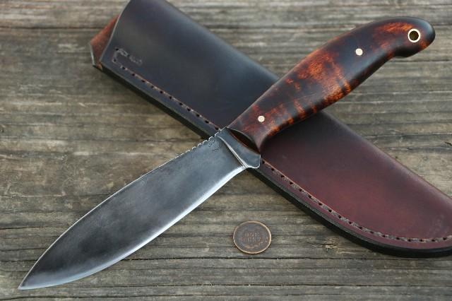 Custom Hunting Knives, Lucas Forge, Hunting Knives, Skinning Knives, Belt Knife, Handmade Knives