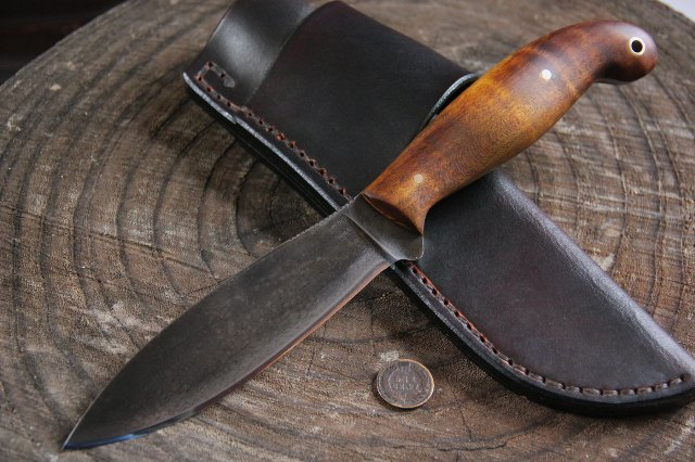 Custom Knives, Hunting Knives, Lucas Forge, Custom Full Tang Knives, Canada Knife, Willow Leaf Knife