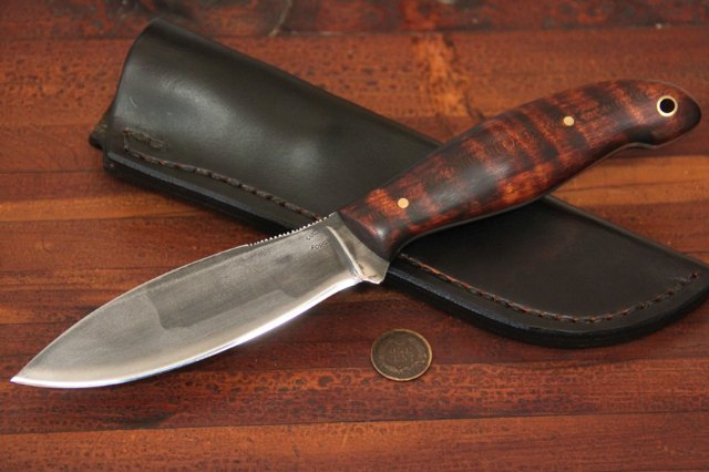 Canadian Knife, Willow Leaf Knife, Custom Knives, Custom Hunting Knives, Lucas Forge, Lucas Forge Knives