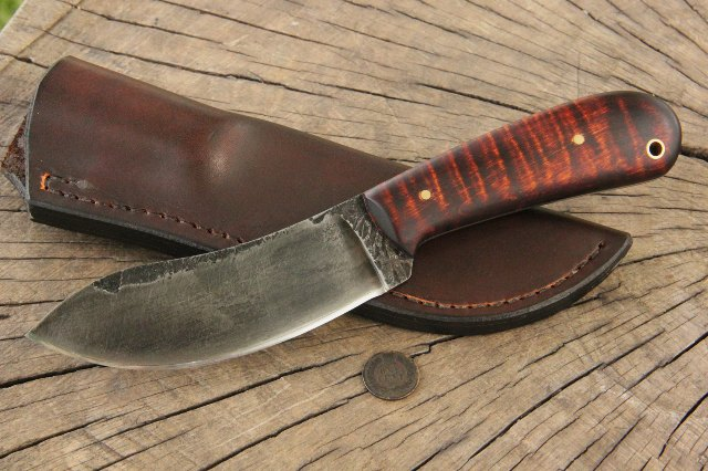 Nessmuk Knife, Survival Knife, Hunting Knife, Lucas Forge Knives, Lucas Knives, Custom Made Knives, Custom Leatherwork, Custom Hunting Knives