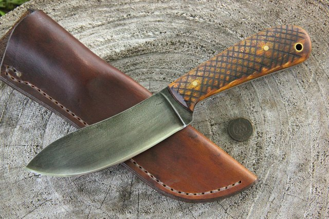Nessmuk Knife, Custom Nessmuk Knife, Sears Nessmuk, Lucas Forge Knives, Custom Knife