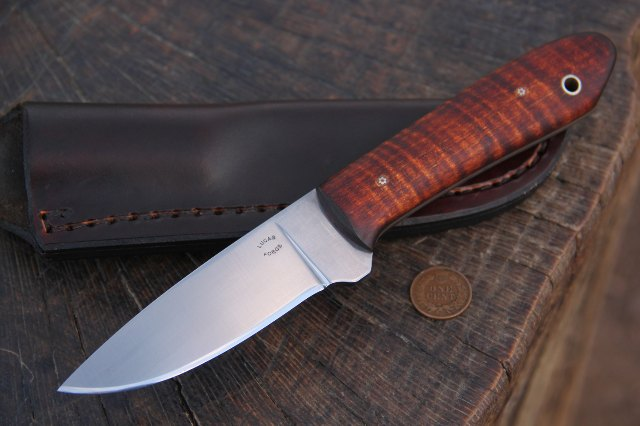 Packer Knife, Custom Hunting Knife, Custom Knives, Hunting Knives, Lucas Knives, Lucas Forge Packer Knife For Sale, Custom Lucas Knives, Belt Knife