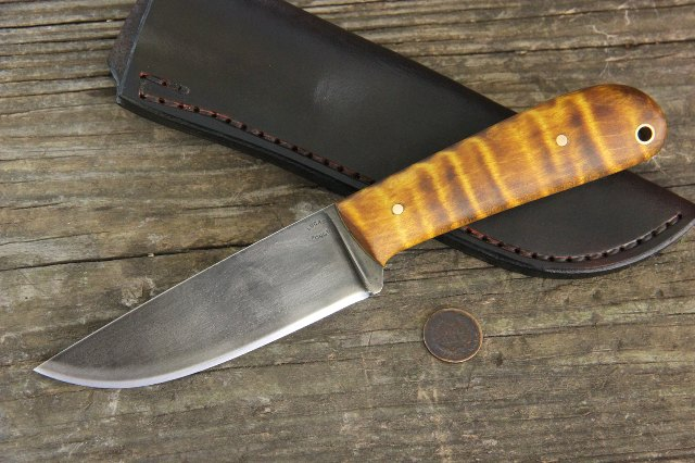 Powder River, Powder River Knife, Hunting Knife, Trade Knife, Hudson Bay Knife, Custom Knife, Custom Hunting Knives, Lucas Forge Knives, Hunter Knives, Full Tang Hunting Knives, Skinning Knife, Custom Knife