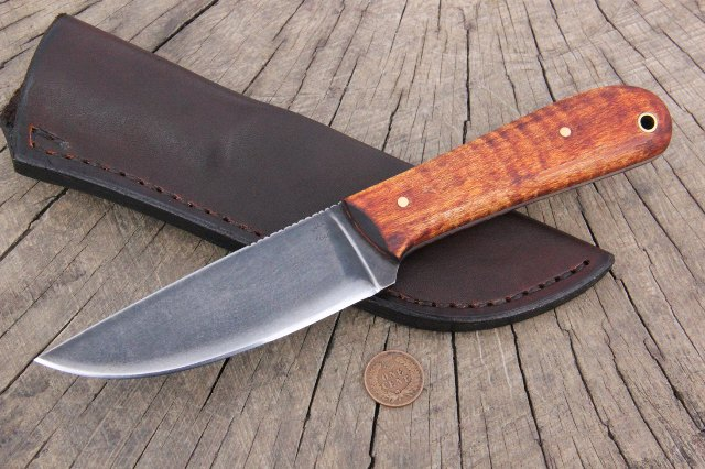 Hunting Knife, Skinning Knife, Trade Knife, Historical Knife, Hudson Bay Knife, Fur Trade Knife, Reenactor Knife, Lucas Forge Knife, Custom Knives, Custom Hunting Knives, Powder River, Powder River Knife