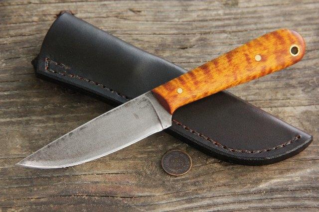 Trapping Knives, Trapper, Skinning Knives, Custom Skinning Knife, Custom Trapper Knife, Lucas Forge, Custom Knives, Full Tang Knife