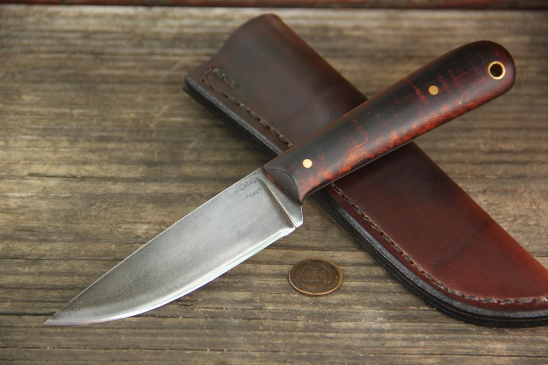 Trapper, Trapping Knife, Lucas Forge, Custom Hunting Knives