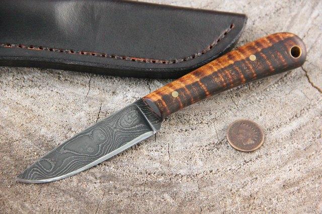 Custom Hunting Knives, Damascus Knives, Damascus Steel, Lucas Forge Knives