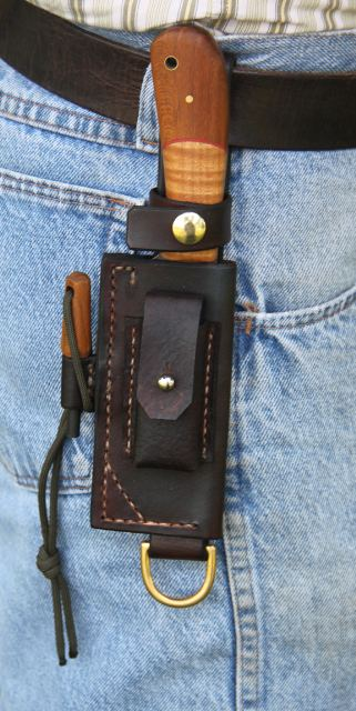 Custom Leather Sheaths, Leather Survival Sheath, Leather Belt Sheath, Leather Knife Sheath for Hiking