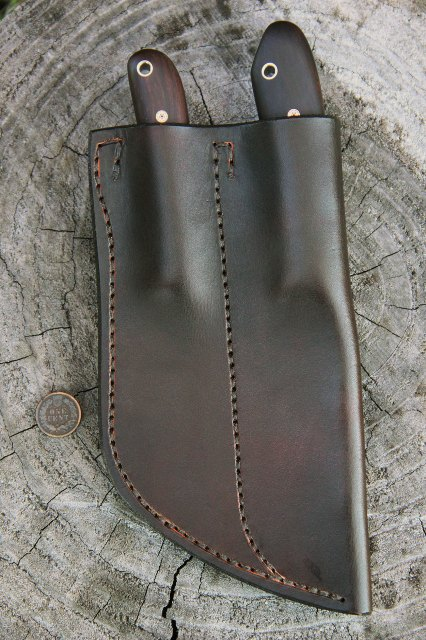 Leather Knife Sheath, Lucas Forge