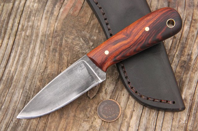 Custom Knife, Hunting Knife, Belt Knife, Little Knife, Knives with Blade Under 4 Inches, Lucas Forge Knives