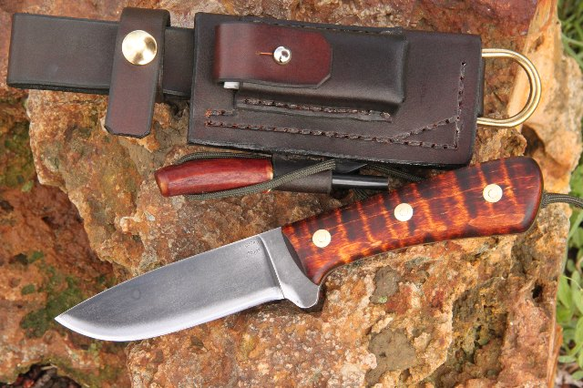 Cusstom Knives, Trekker Sheath, Hunting Knife, Hunter Knife, Lucas Forge