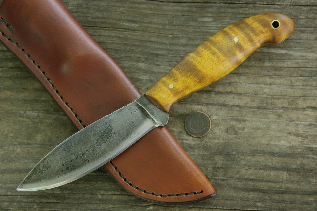 Jack Pine Knife, Canda Knife, Canadadian Belt Knife, Willow Leaf Knife, Belt Knife, Hunting Knife, Custom Knife, Lucas Forge, Lucas Knives