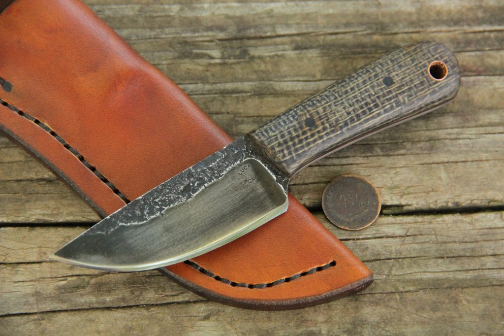 Neck Knife, Custom Hunting Knives, Small Knife, Knife with Blade Under 4 Inches, Neck Knife, Hunting Knife, Lucas Forge