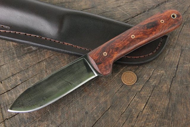 Kephart Knife, Custom Knives, Ironwood Handle Knives, Custom Hunting Knives, Lucas Forge, Custom Knives