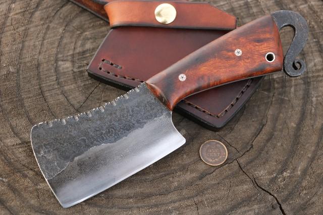 Mini Cleaver, Custom Cheese Knife, Lucas Forge, Custom Knives, Hunting Knives, Custom Cleaver, Custom Meat Knife, Custom Kitchen Knives, Lucas Forge Knives