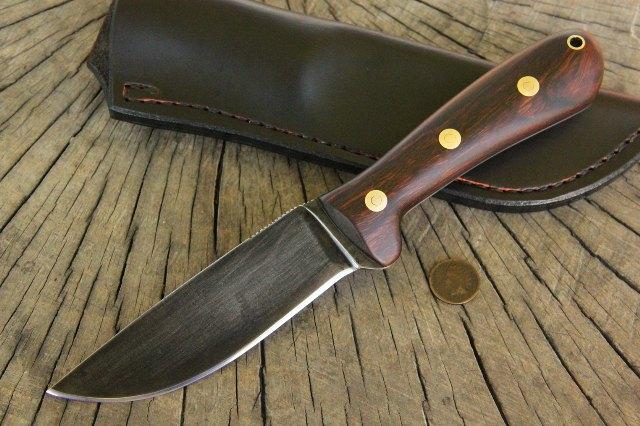 Mini Jaguar Knife, Custom Knives, Custom Hunting Knives, Hunter Knife, Full Tang Knife, Camp Knife, Lucas Forge Knives