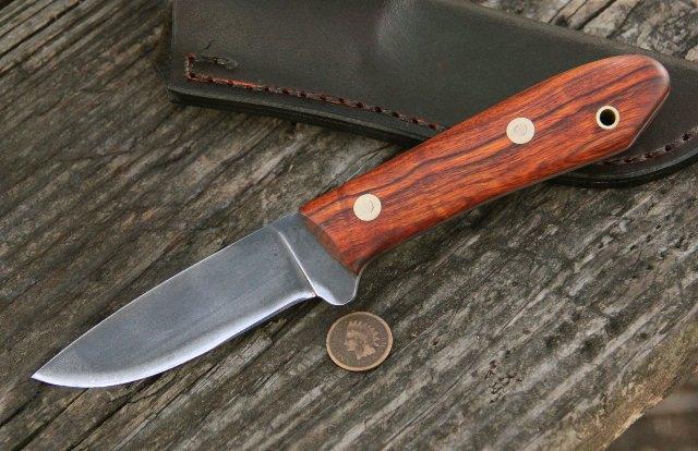 Ironwood Packer, Packer Knife, Custom Hunting Knives, Lucas Forge Knives, Lucas Knives