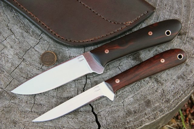 Packer Knife, Knife Set, Custom Knives, Custom Knife Set, Custom Hunting Knives, Lucas Forge Knives