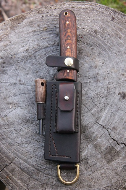 Knife Sheath, Leather Knife Sheath, Lucas FOrge, Custom Hunting Knives