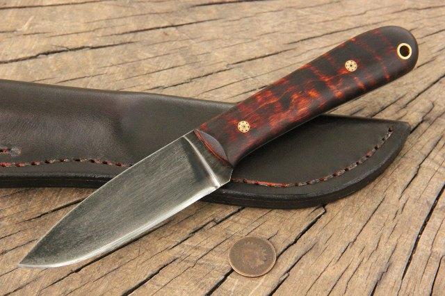 Belt Knife, Custom Knife, Lucas Forge Knives, Hunting Knife