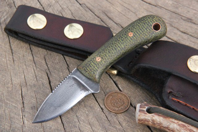 Custom Knives, Knives with Leather Sheath, Knives with Blade Under 2 inches, Belt Knife, Small Knife, Lucas Forge Knives