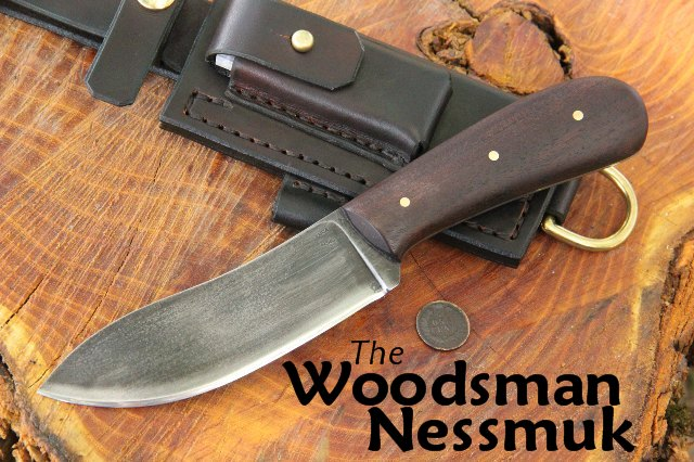 Custom Knives, Nessmuk, Nessmuk Knife, Custom Nessmuk Knife, Lucas Forge, Custom Hunting Knives