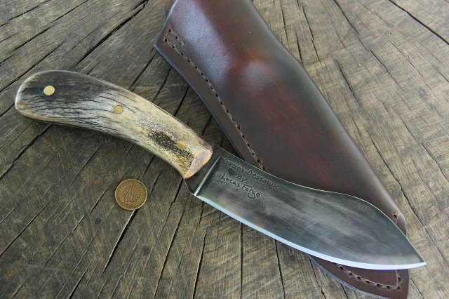 Sears Nessmuk Knife, Sears Nessmuk Reproduction, Lucas Forge Knives, Nessmuk, Mr. Nessmuk, Custom Nessmuk Knife