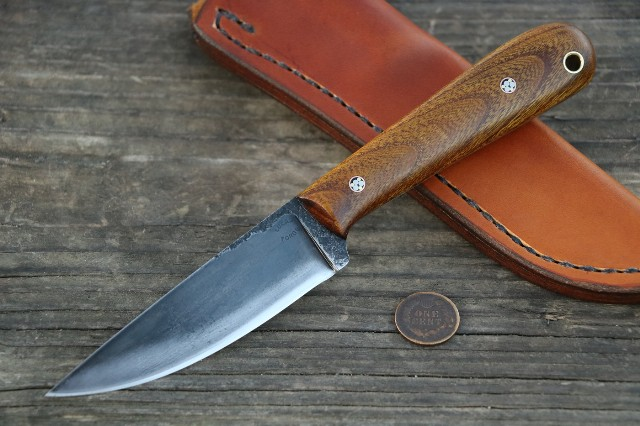 Osage Trapper, Trapper, Skinning Knife, Lucas Forge, Custom Hunting Knives