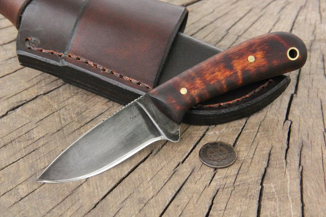 Cowboy Knife, Horizontal Sheath, Horizontal Knife Sheath, Custom Knives, Lucas Forge Knives