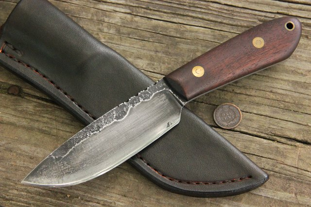 Forged Knife, Hammer Forged Knife, Custom Hunting Knife, Skinning Knife, Lucas Forge Knives, Custom Knives, Custom Forged Knives