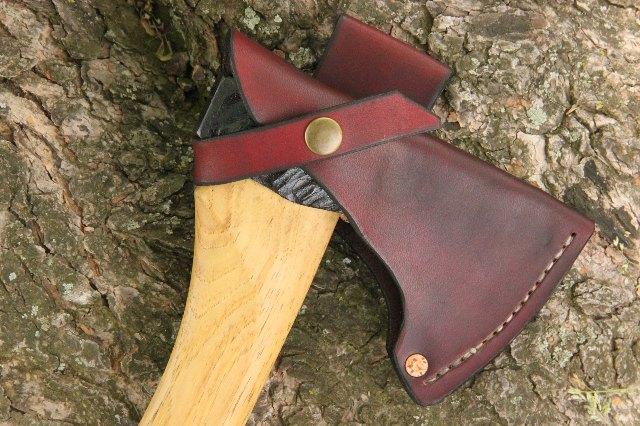 Axe Sheath, Handmade Axe, Handmade Tools, Made in USA, Lucas Forge, Ike's Axes, Ike Axe