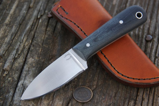 Drop Point Knife, Custom Knife, Belt Knife, Lucas Forge Knife