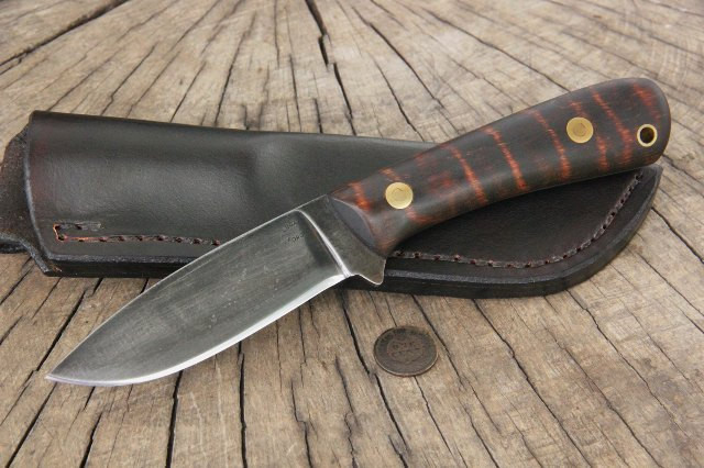 Whitetail Knife, Whitetail Hunting Knife, Whitetail Hunting, Hunting Knife, Custom Hunting Knife, Lucas Forge Knives, Bush Knife, Belt Knife, Skinning Knife, Custom Knives, Custom Built Knives, Knife Designers, Lucas Knives