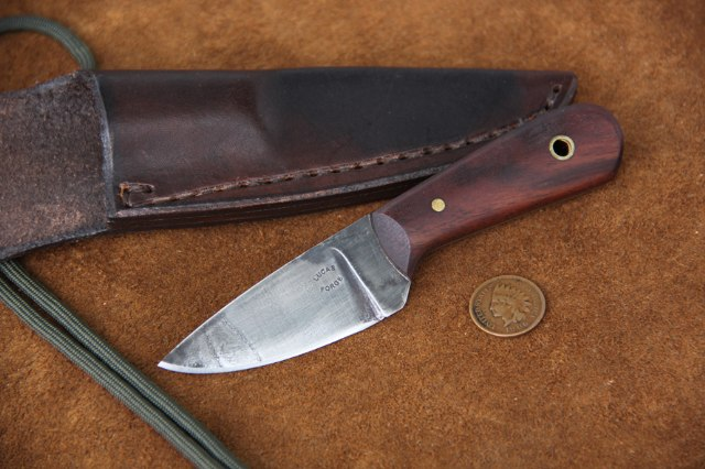 Neck Knife, Walnut, Custom Hunting Knives, Lucas Forge