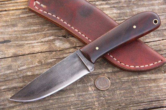 Custom knives, Powder River Knife, Custom Hunter, Custom Knifemaker, Hunting Knife, Lucas Forge, Knives for Hunters, Full Tang Hunting Knife