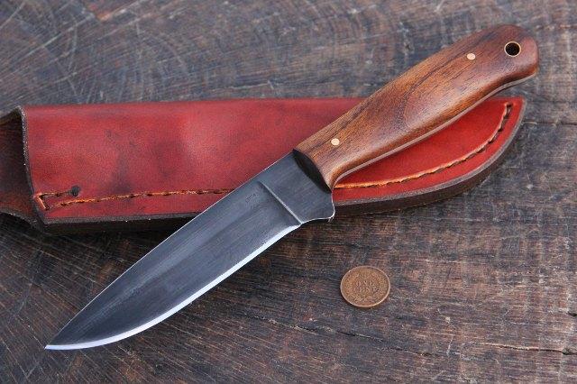 Hunting Knife, Custom Hunting Knife, Custom Knife, Gift for Man, Osage Handle Knife, Traditional Knife, Hunter Knife, Skinning Knife, Lucas Forge