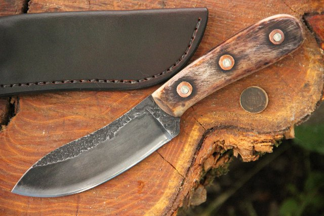 Backwoodsman Knife, Nessmuk Knife, Custom Nessmuk Knife, Lucas Forge Nessmuk Knife, Lucas Knives, Lucas Forge, Hunting Knives, Skinning Knife, Camp Knife, Outdoor Knife