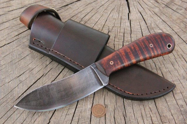 Custom knives, hunting knife, Lucas Forge Knives, Knifemaker, Survival Knife, Camp Knife, Nessmuk Knife, Woods Knife, Camping Knife, Camp Knife, Traditional Knife