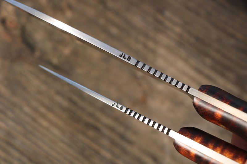 Knife Set, Custom Knife Set, Custom Knives, Lucas Forge, Lucas Forge Knives, Custom Lucas from Lucas Forge